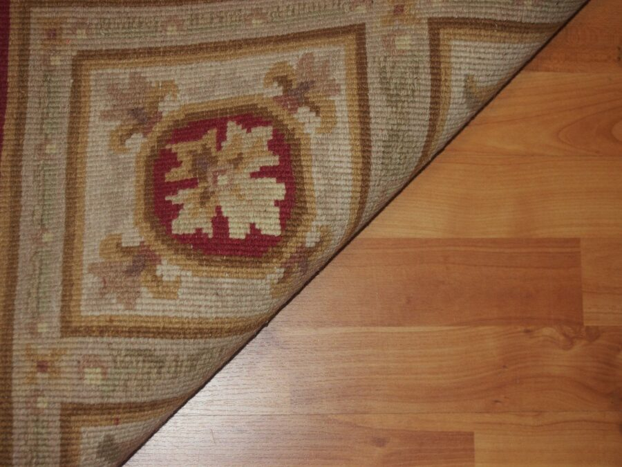 5' X 8' Abusson Medallion Traditional Hand-knotted Red Rectangle Wool Rug - Direct Rug Import | Rugs in Chicago, Indiana,South Bend,Granger