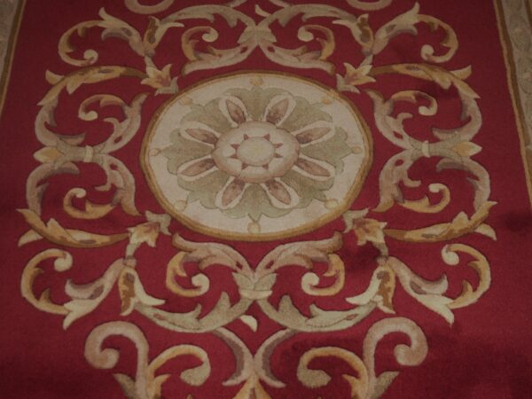 5' X 8' Abusson Medallion Traditional Hand-knotted Red Rectangle Wool Rug - Direct Rug Import   Rugs in Chicago, Indiana,South Bend,Granger