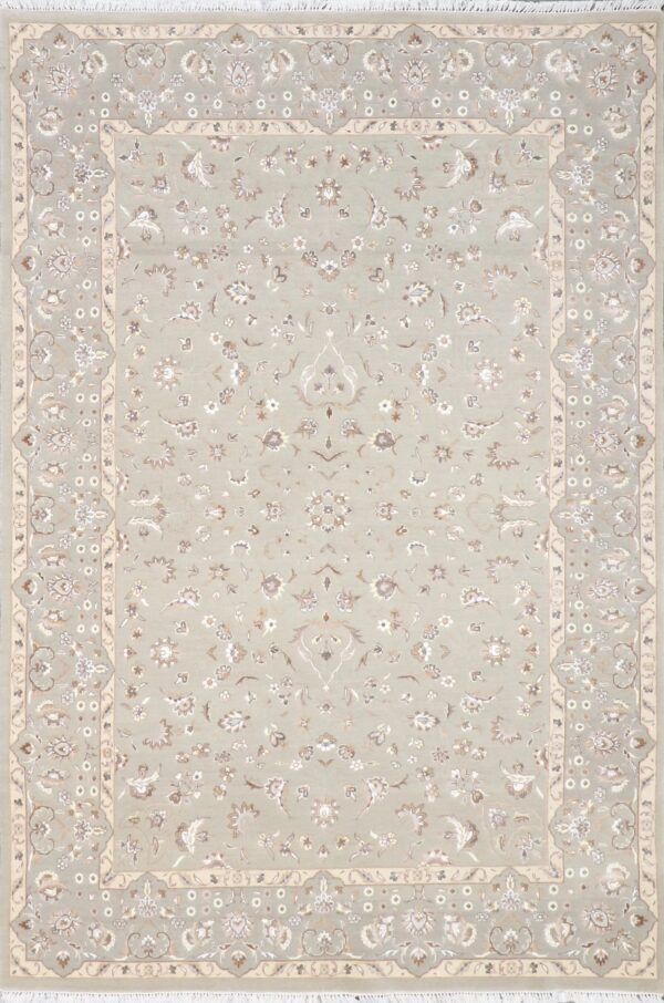 """5'4""""x7'9"""" Traditional Gray Wool Hand-Knotted Rug - Direct Rug Import 