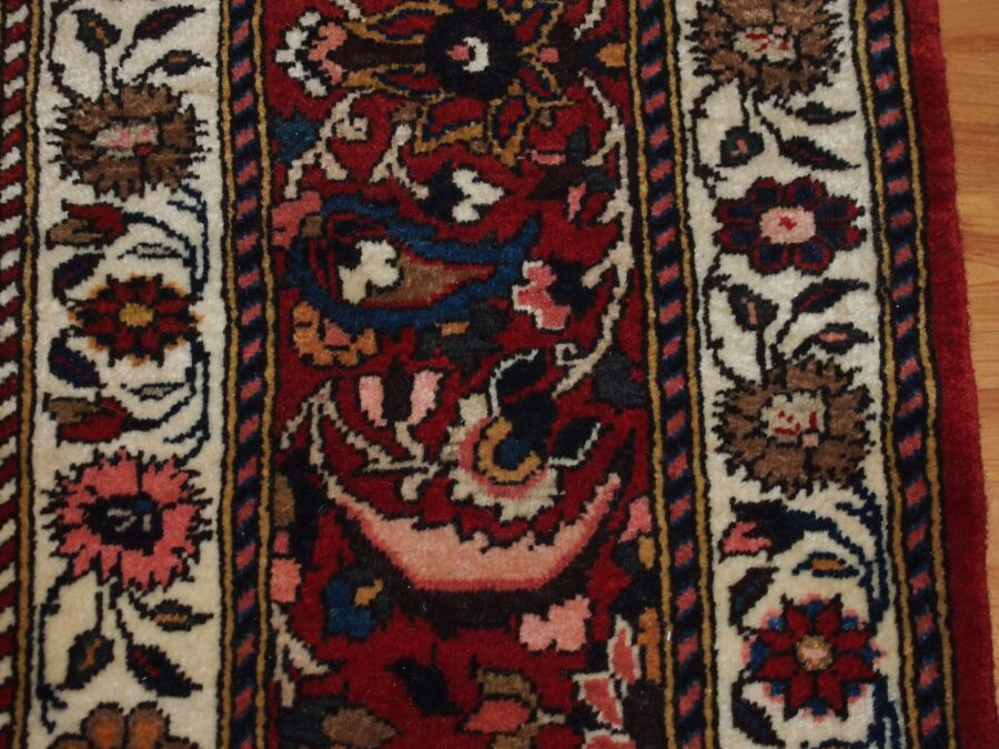 6'9'' X 10'5'' Persian Bakhtiari Medallion Semi-Antique Red Rectangle Wool Rug - Direct Rug Import   Rugs in Chicago, Indiana,South Bend,Granger