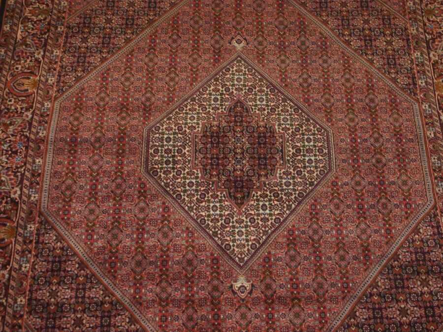 6'11'' X 10'3'' Persian Beijar Medallion Semi-Antique Rust Rectangle Wool Rug - Direct Rug Import   Rugs in Chicago, Indiana,South Bend,Granger