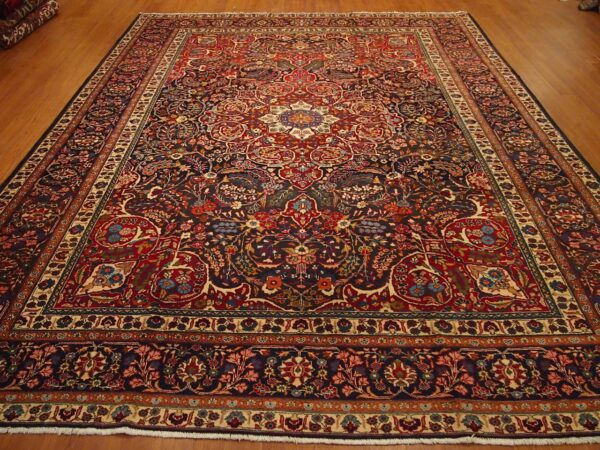 """9'3""""x12'2"""" Traditional Persian Yazed Medallion Rug - Direct Rug Import 
