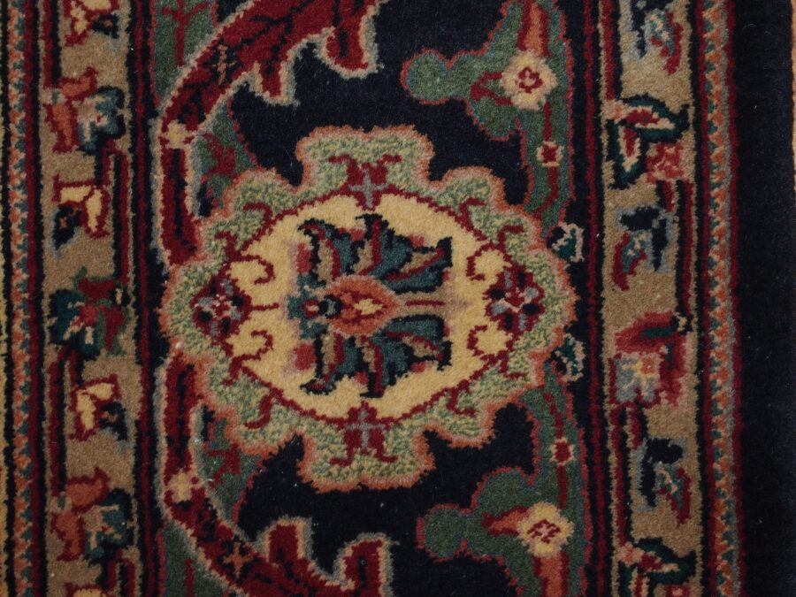 6' X 9'5'' Kazak Eagle Geometric Traditional Hand-Knotted Navy,Tan Rectangle Wool Rug - Direct Rug Import   Rugs in Chicago, Indiana,South Bend,Granger