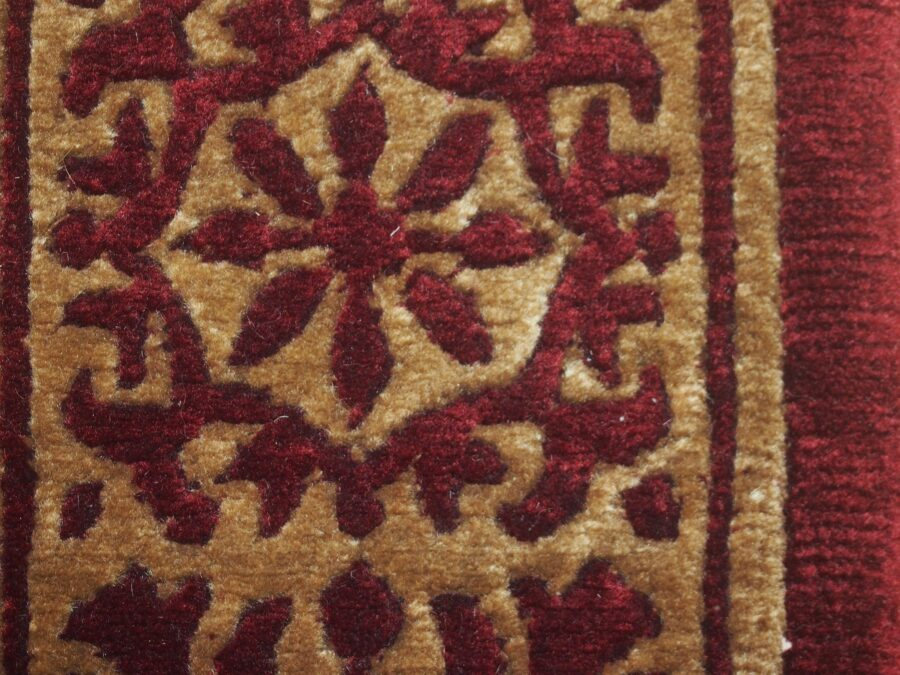 5'6'' X 8'2'' Abusson Trellis Tone-on-Tone Traditional Hand-knotted Gold Rectangle Wool Rug - Direct Rug Import | Rugs in Chicago, Indiana,South Bend,Granger