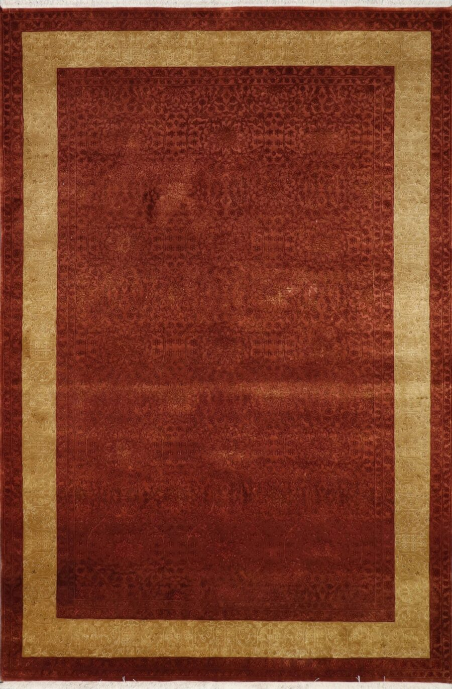 5'x8' Transitional Rust Wool & Silk Hand-Knotted Rug - Direct Rug Import | Rugs in Chicago, Indiana,South Bend,Granger