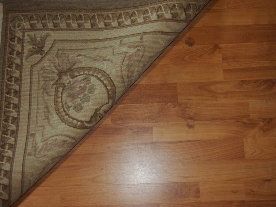 6'5'' X 9'8'' Abusson Tone-on-Tone Traditional Hand-Knotted Beige Rectangle Wool Rug - Direct Rug Import   Rugs in Chicago, Indiana,South Bend,Granger