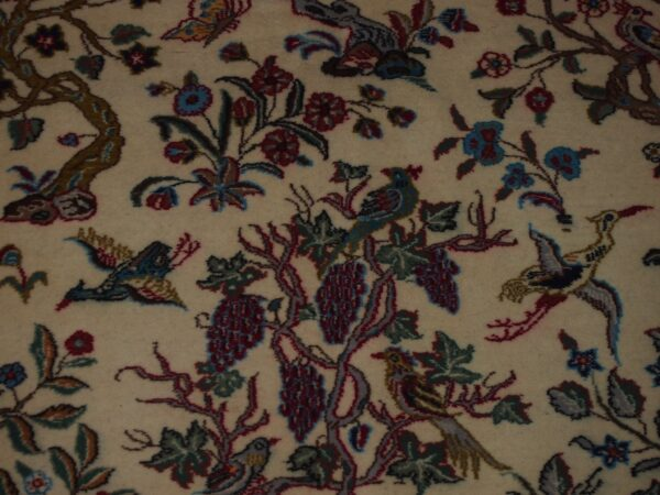 4'3'' X 6'6'' Isfashan Tree of Life Floral Traditional Hand-knotted Brown Rectangle Wool & Silk Rug - Direct Rug Import | Rugs in Chicago, Indiana,South Bend,Granger