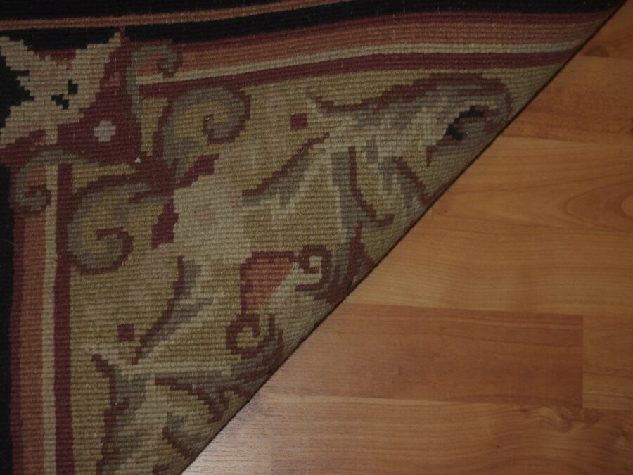 5'1'' X 8' Abusson Frame Traditional Hand-knotted Gold,Pink Rectangle Wool Rug - Direct Rug Import   Rugs in Chicago, Indiana,South Bend,Granger