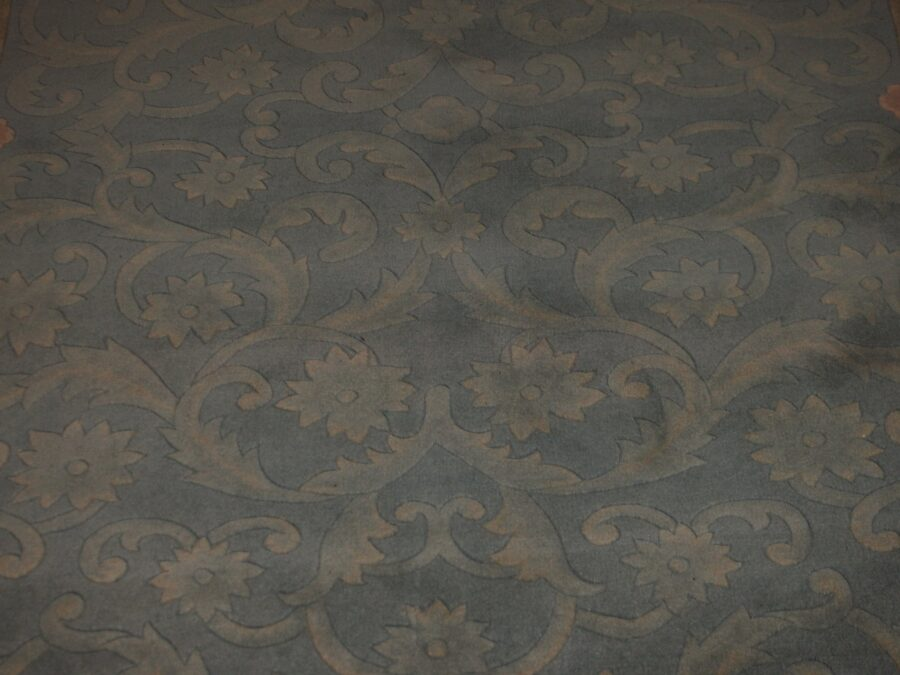 5'6'' X 7'11'' Abusson Tone-on-Tone Traditional Hand-knotted Tan,Pink Rectangle wool Rug - Direct Rug Import   Rugs in Chicago, Indiana,South Bend,Granger
