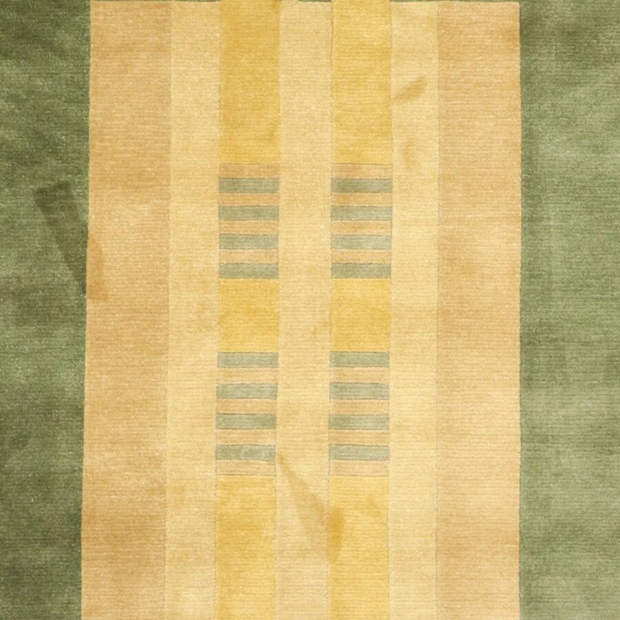 """5'6""""x8'6"""" Contemporary Green Wool Hand-Knotted Rug - Direct Rug Import   Rugs in Chicago, Indiana,South Bend,Granger"""