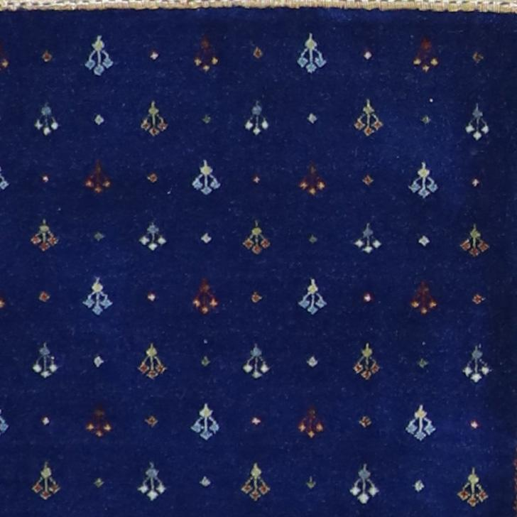 4'x6' Contemporary Gabbeh Blue Wool Hand-Knotted Rug - Direct Rug Import   Rugs in Chicago, Indiana,South Bend,Granger