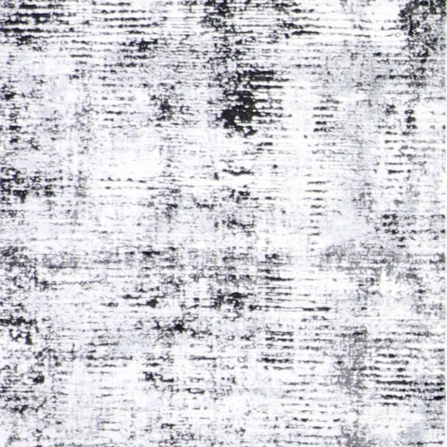 """2'7""""x10' Contemporary Gray Wool & Silk Hand-Finished Rug - Direct Rug Import 