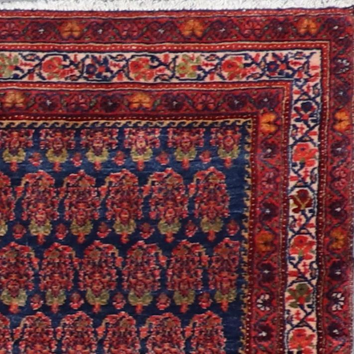 """4'4""""x7'4"""" Persian Kilim Navy Wool Hand-Knotted Rug - Direct Rug Import 