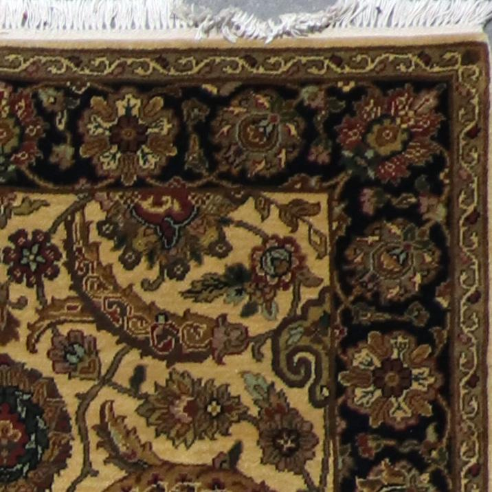 """4'x6'2"""" Decorative Gold Wool Hand-Knotted Rug - Direct Rug Import   Rugs in Chicago, Indiana,South Bend,Granger"""