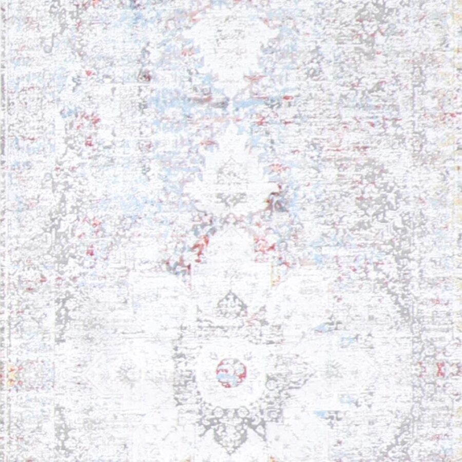 """2'7""""x10' Transitional Gray Wool & Silk Hand-Finished Rug - Direct Rug Import 
