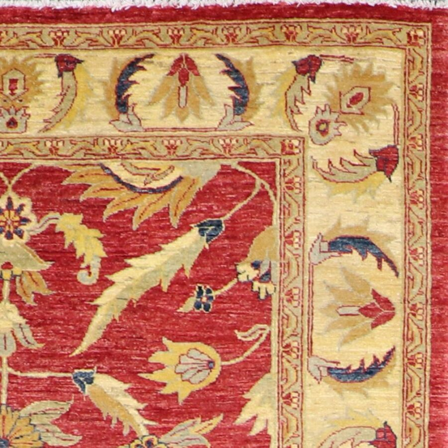 """5'9""""x8'2"""" Decorative Red Kashan Wool Hand-Knotted Rug - Direct Rug Import 
