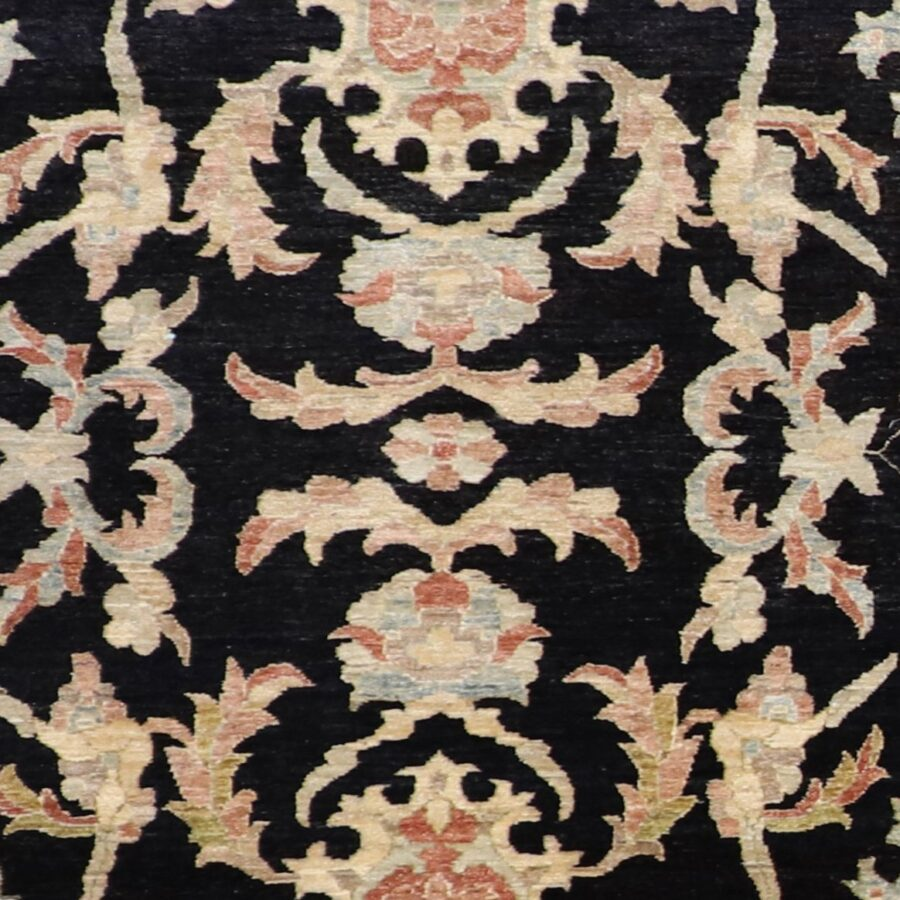"""5'11""""9'9"""" Decorative Black Tabriz Wool Hand-Knotted Rug - Direct Rug Import 