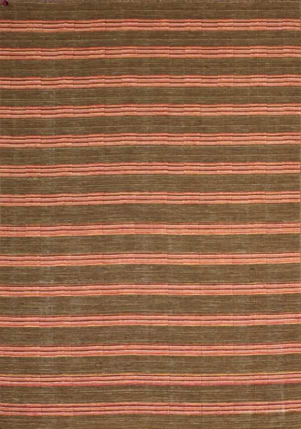 """5'8""""x7'10"""" Contemporary Brown Wool Flat-weave Hand-Knotted Rug - Direct Rug Import 