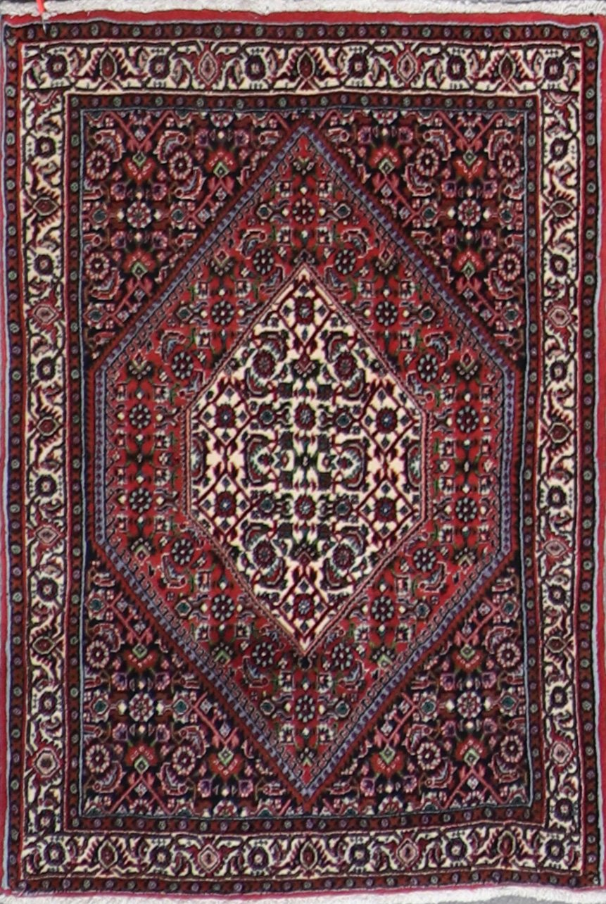"""2'4""""x3'7"""" Traditional Persian Bijar Wool Hand-Knotted Rug - Direct Rug Import 