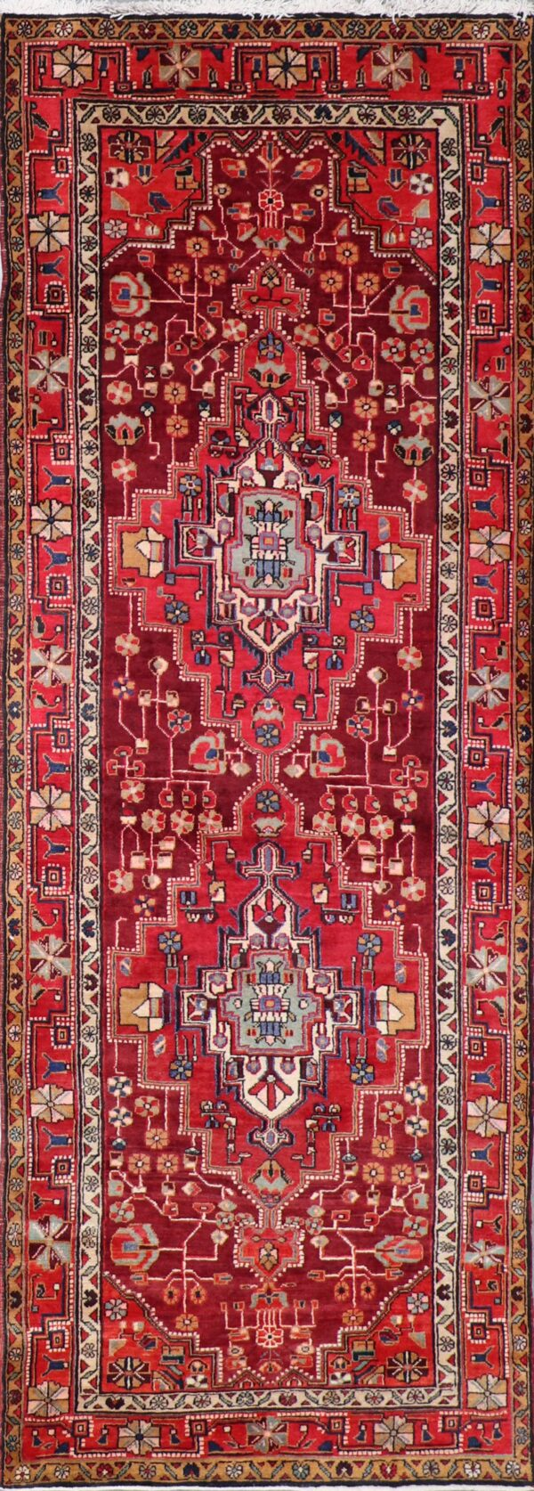 """3'9""""x10'10"""" Traditional Persian Red & Tan Wool Hand-Knotted Rug - Direct Rug Import   Rugs in Chicago, Indiana,South Bend,Granger"""