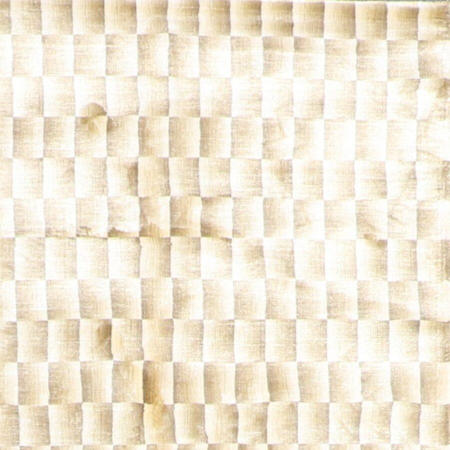 """4'11""""x8'2"""" Contemporary Ivory & Gold Silk Hand-Knotted Rug - Direct Rug Import 
