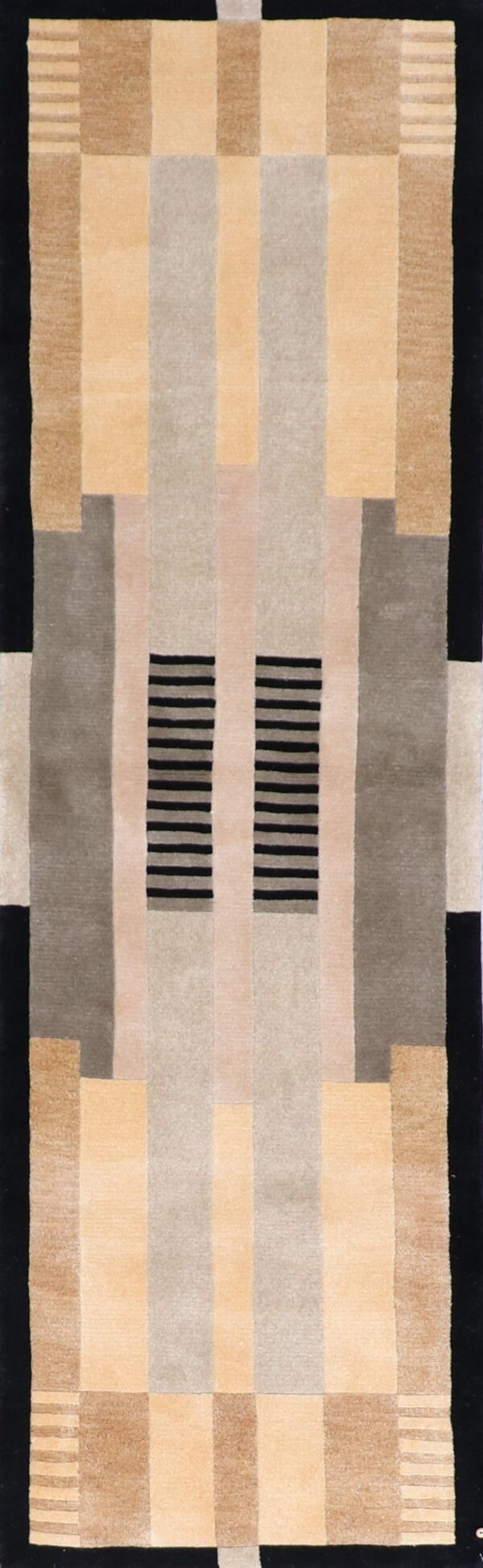"""2'4""""x8'1"""" Contemporary Tibetan Wool Hand-Knotted Rug - Direct Rug Import 