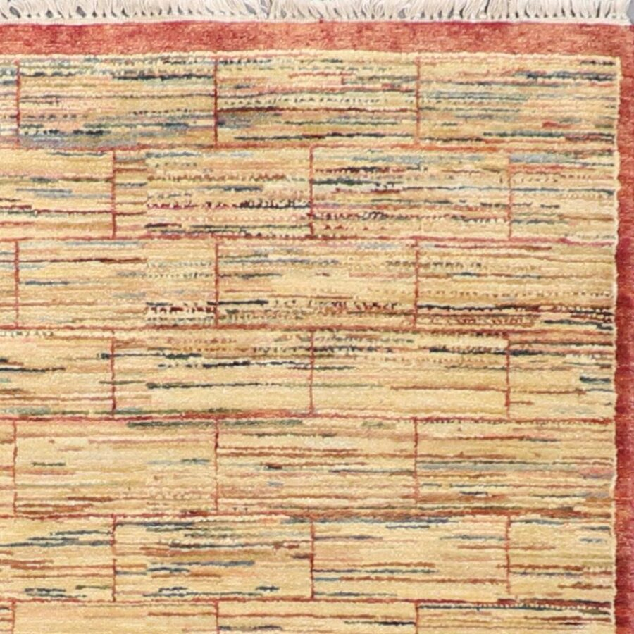 """4'11""""x7'8"""" Decorative Tan Wool Hand-Knotted Rug - Direct Rug Import   Rugs in Chicago, Indiana,South Bend,Granger"""