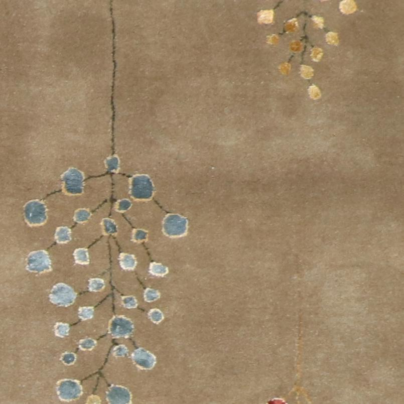 """3'x6'9"""" Decorative Brown Rain Drop Wool & Silk Hand-Knotted Rug - Direct Rug Import   Rugs in Chicago, Indiana,South Bend,Granger"""