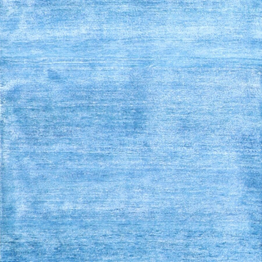 """2'10""""x9'10"""" Contemporary Blue Wool Hand-Knotted Rug - Direct Rug Import 