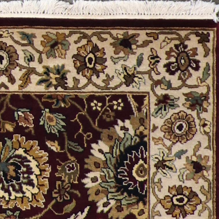 """4'1""""x6' Traditional Burgundy Wool Hand-Knotted Rug - Direct Rug Import   Rugs in Chicago, Indiana,South Bend,Granger"""