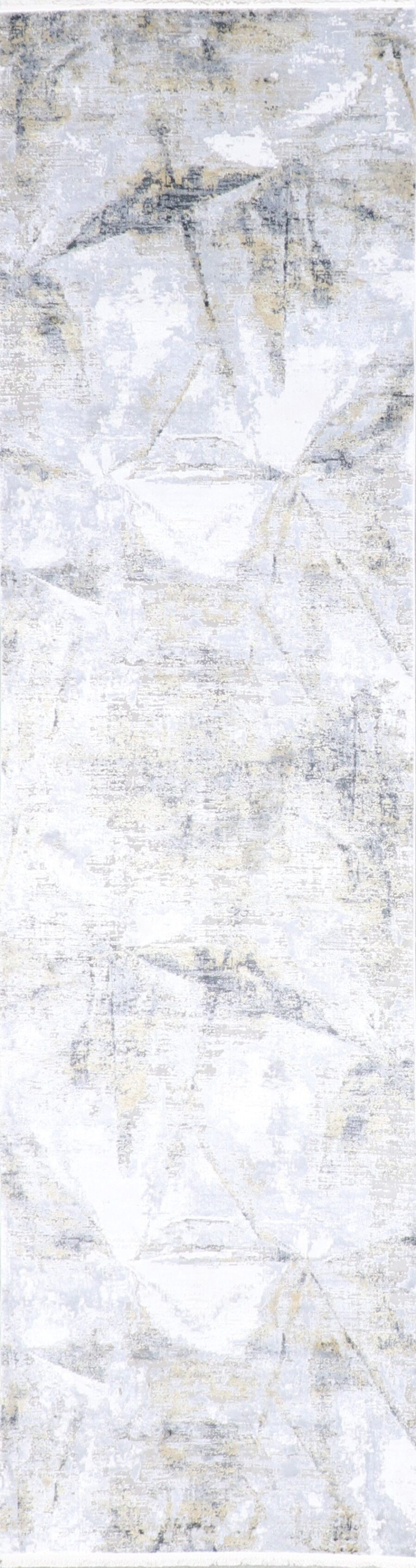 """2'7""""x10' Transitional Gray Wool & Silk Hand-Finished Rug - Direct Rug Import   Rugs in Chicago, Indiana,South Bend,Granger"""