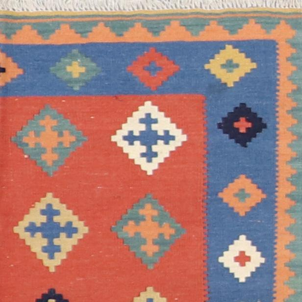 """3'6""""x5' Decorative Orange Wool Hand-Knotted Rug - Direct Rug Import   Rugs in Chicago, Indiana,South Bend,Granger"""