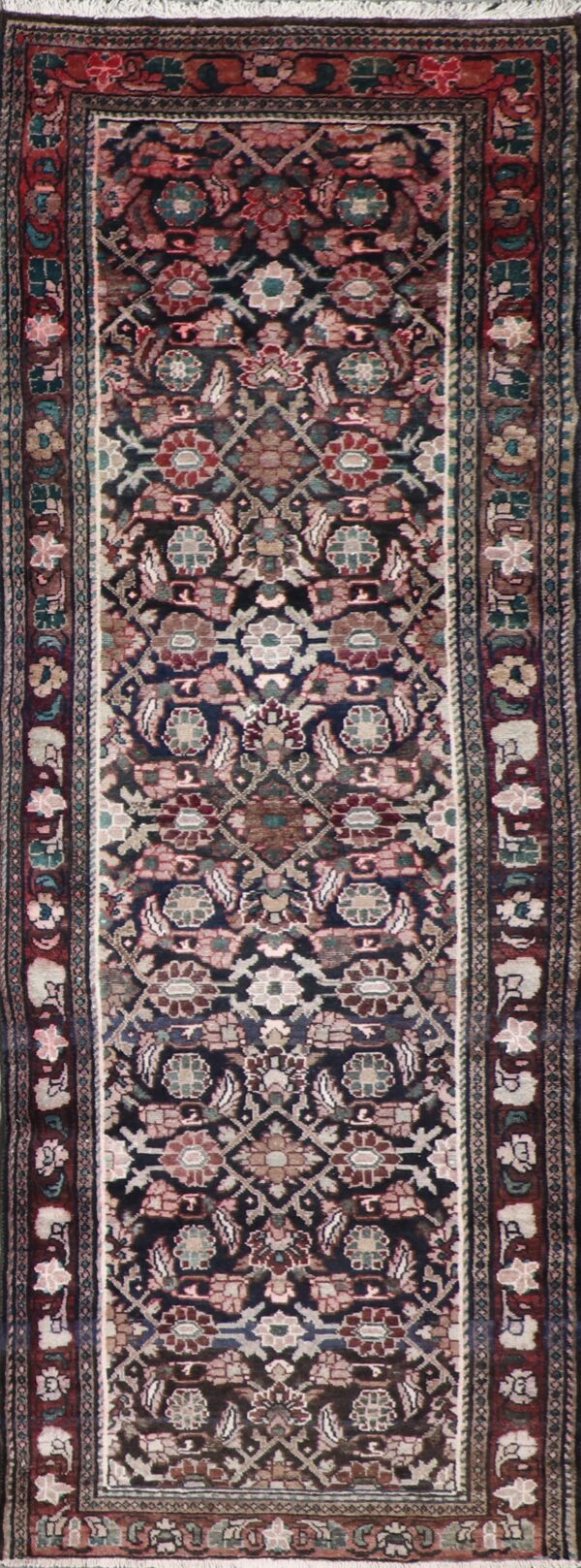 """3'8""""x10'3"""" Traditional Burgundy Tribal Wool Hand-Knotted Rug - Direct Rug Import 