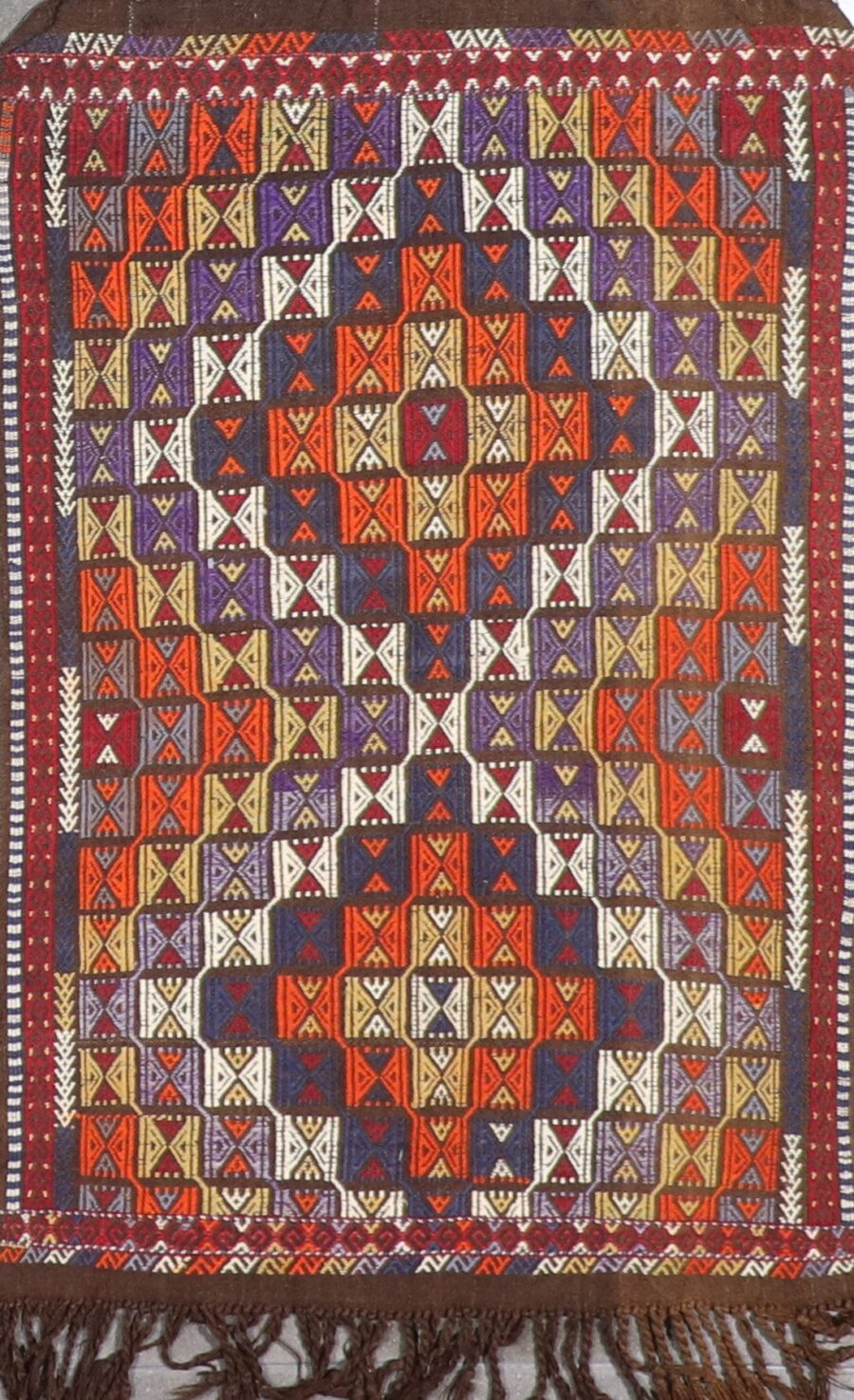 """3'6""""x5' Persian Kilim Multi-Colored Wool Hand-Knotted Rug - Direct Rug Import 