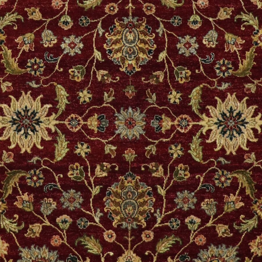 """5'7""""x8'6"""" Traditional Burgundy Kashan Wool Hand-Knotted Rug - Direct Rug Import 
