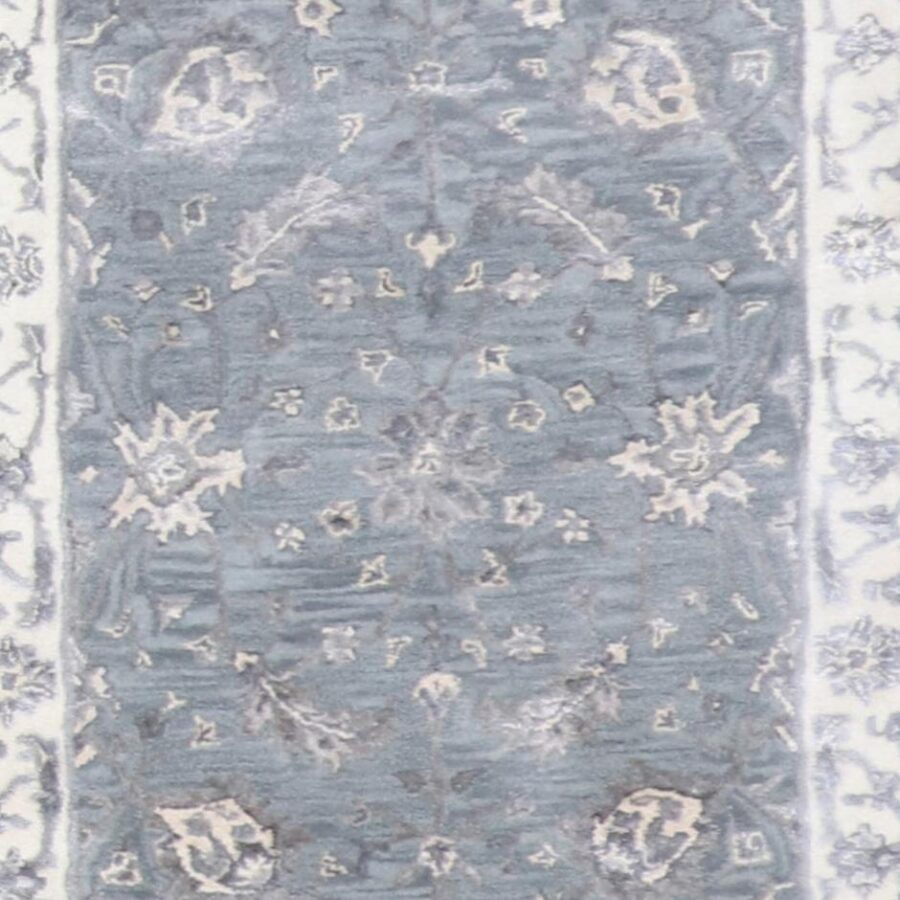 """2'10""""x10' Decorative Vintage Wool & Silk Hand-Tufted Rug - Direct Rug Import 