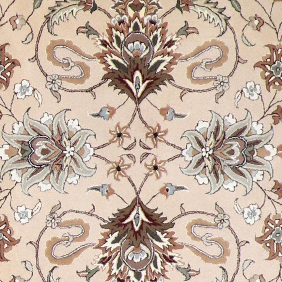 6'x6' Decorative Taupe Wool & Silk Hand-Tufted Rug - Direct Rug Import | Rugs in Chicago, Indiana,South Bend,Granger