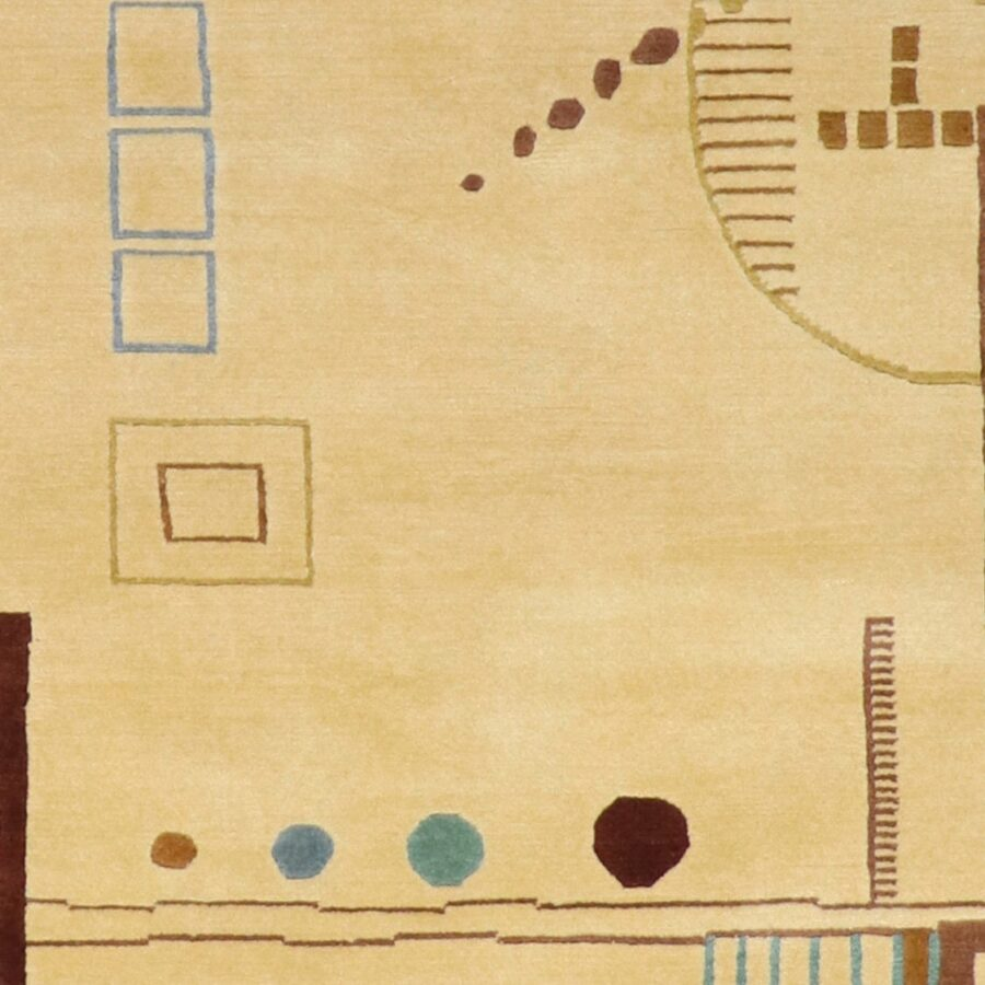 5'x8' Tan Contemporary Nepal Wool Hand-Knotted Rug - Direct Rug Import   Rugs in Chicago, Indiana,South Bend,Granger
