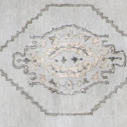 """3'11""""x3'11"""" Decorative Gray Vintage Wool & Silk Hand-Tufted Rug - Direct Rug Import 