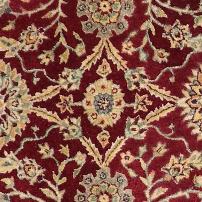 """6'1""""x6'1"""" Decorative Red Wool Hand-Tufted Rug - Direct Rug Import   Rugs in Chicago, Indiana,South Bend,Granger"""