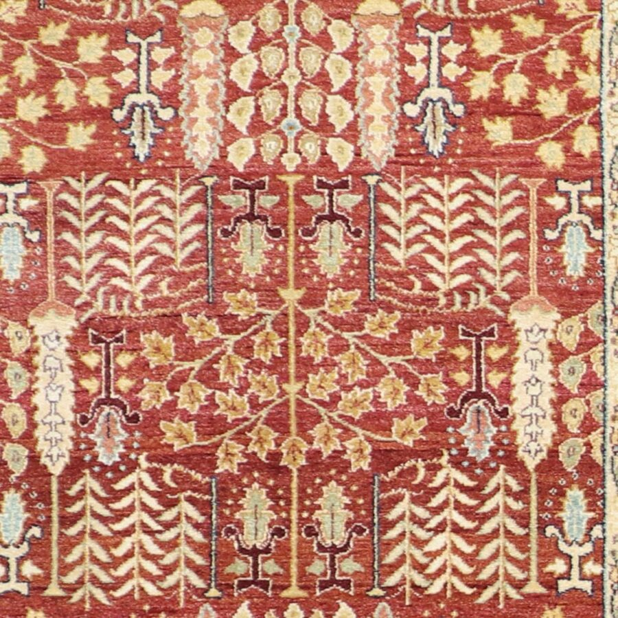 """6'1""""x9'5"""" Traditional Rust Herati Wool Hand-Knotted Rug - Direct Rug Import 