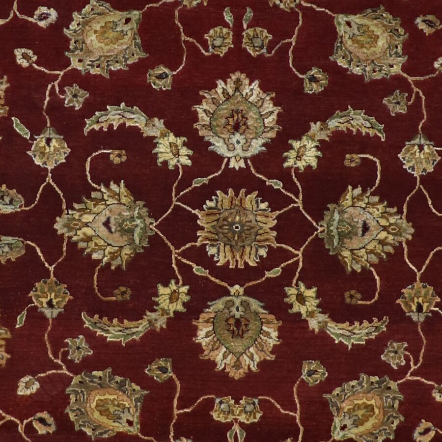 """5'11""""x8'11"""" Traditional Burgundy Wool & Silk Hand-Knotted Rug - Direct Rug Import   Rugs in Chicago, Indiana,South Bend,Granger"""