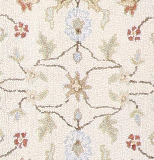 """3'5""""x5'4"""" Decorative Ivory Hook Wool Hand-Tufted Rug - Direct Rug Import 