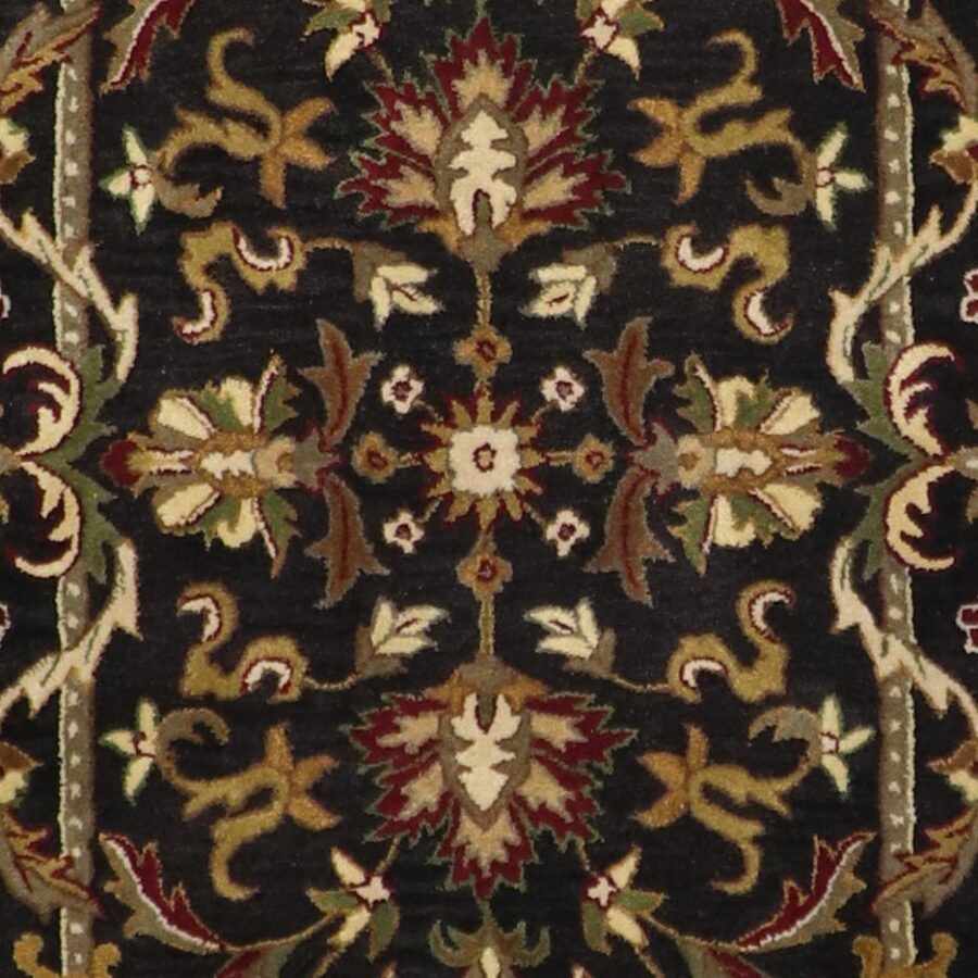 """5'x8'1"""" Decorative Black Wool Hand-Tufted Rug - Direct Rug Import 