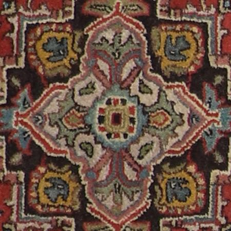 """3'x4'11"""" Traditional Red Wool Hand-Tufted Rug - Direct Rug Import   Rugs in Chicago, Indiana,South Bend,Granger"""