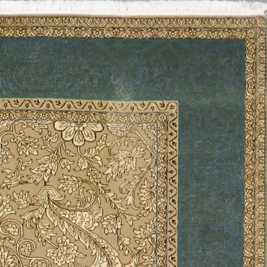 """6'5""""x8'6"""" Decorative Classic Gold Wool & Silk Hand-Knotted Rug - Direct Rug Import 