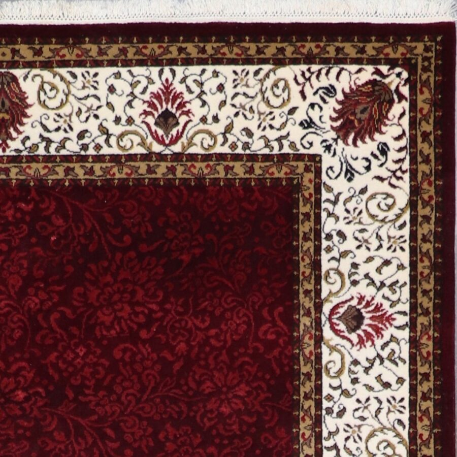 """5'9""""x8'2"""" Traditional Burgundy Wool & Silk Hand-Knotted Rug - Direct Rug Import 