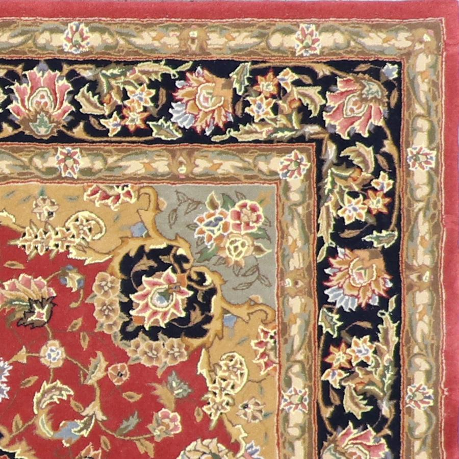 """5'x8'1"""" Traditional Tabriz Red Wool & Silk Rug - Direct Rug Import 