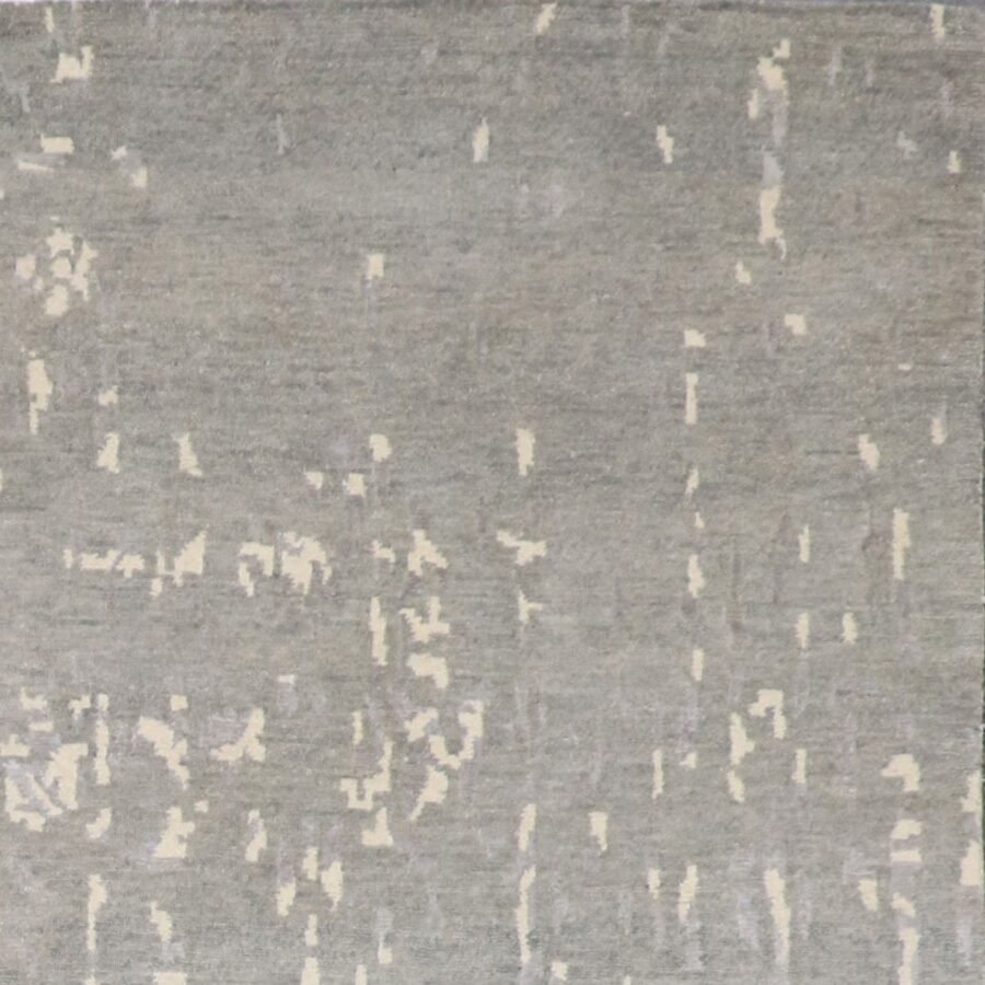 """6'x8'10"""" Transitional Gray Wool & Silk Hand-Knotted Rug - Direct Rug Import 