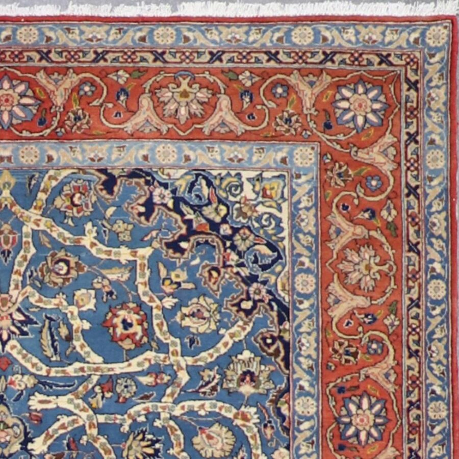 """5'3""""x9'2"""" Traditional Teal Wool Hand-Knotted Rug - Direct Rug Import 